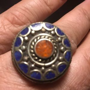 Jewelry - Bohemian silver vintage ring